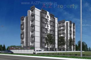 Elevation of real estate project Panchmukhi Pride located at Bopal, Ahmedabad, Gujarat