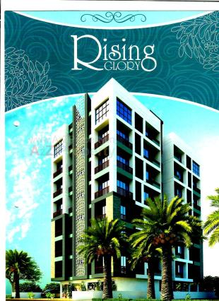 Elevation of real estate project Rising Glory located at Makarba, Ahmedabad, Gujarat