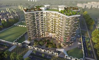 Elevation of real estate project Coconut located at Rundh, Surat, Gujarat
