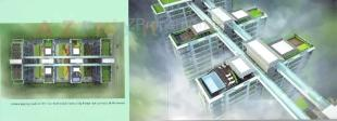 Elevation of real estate project Union Residency located at Vesu, Surat, Gujarat