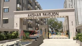 Elevation of real estate project Akshar Pavilion located at Gotri, Vadodara, Gujarat