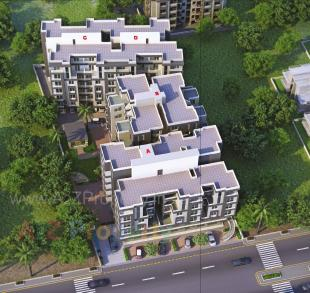 Elevation of real estate project Ashirwad Residency located at Vemali, Vadodara, Gujarat