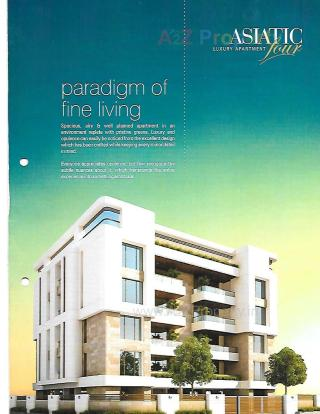 Elevation of real estate project Asiatic Four located at Gotri, Vadodara, Gujarat