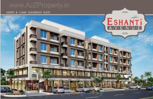 Elevation of real estate project Eshanti Avenue located at Danteshwar, Vadodara, Gujarat