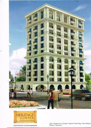 Elevation of real estate project Heritage Corner located at Sevasi, Vadodara, Gujarat