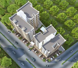 Elevation of real estate project Kamdhenu Residency located at Tarsali, Vadodara, Gujarat