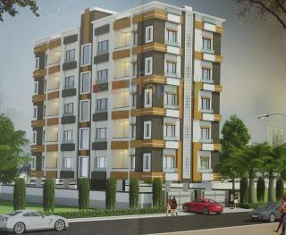 Elevation of real estate project Palash Residency located at Vadiwadi, Vadodara, Gujarat
