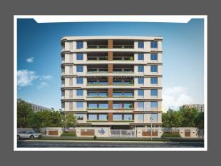 Elevation of real estate project Radhe Shyam Residency located at Gotri, Vadodara, Gujarat