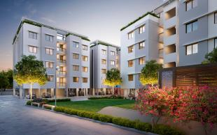 Elevation of real estate project Rudraksh Heaven located at Chhani, Vadodara, Gujarat