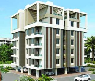 Elevation of real estate project Shreejisamruddhi located at Sevasi, Vadodara, Gujarat