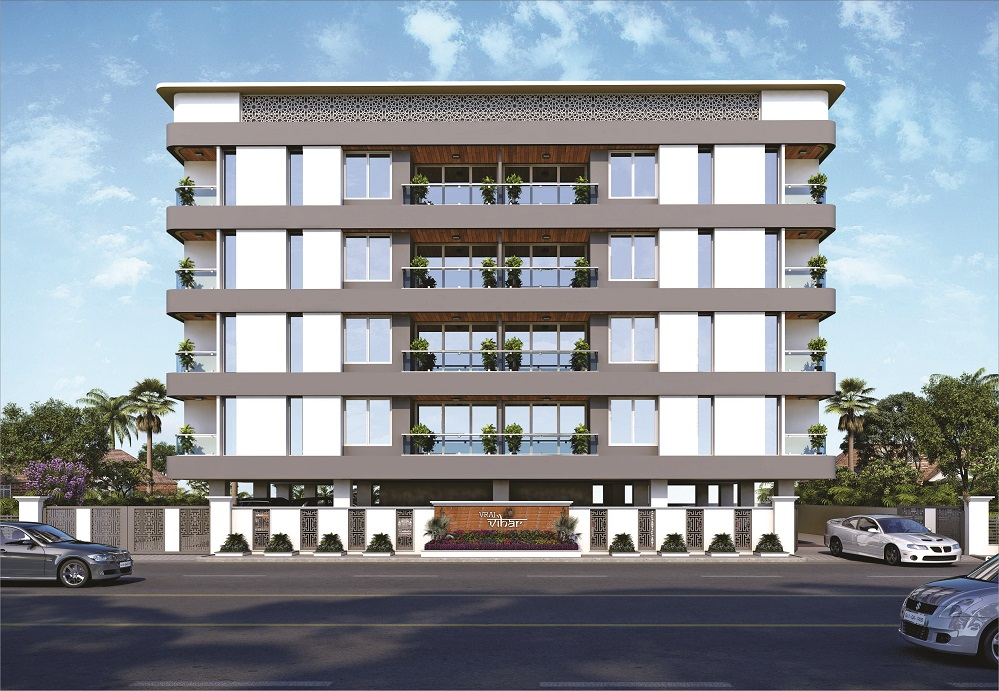 Elevation of real estate project Vraj Vihar located at Kasba, Vadodara, Gujarat